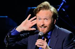 Conan O'Brien performs at his 'Legally Prohibited From Being Funny On Television Tour'   in Universal City, Calif.