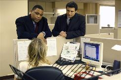 Anthony Anderson, left, and Jeremy Sisto star on NBC's long-running drama Law & Order.