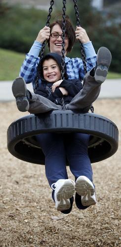 Exercise can be fun, as shown by USA TODAY Weight-Loss Challenge participant Tamara Melgoza, 36, and her son Vincent, 6. They're from Vallejo, Calif.