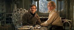 Doctor Zhivago (Omar Sharif) and Lara (Julie Christie) look great as they try to survive winter and Russian politics.