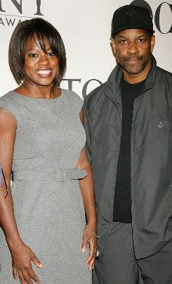 Viola Davis and Denzel Washington were among the stars who showed up for Wednesday's Tony Awards meet-th- nominees press reception in New York City.