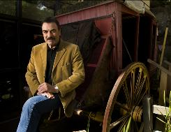 Tom Selleck, shown at the Gene Autry Western Heritage Museum, is a stickler for historical accuracy, so he started making saddles while he was starring in Westerns.