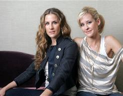 Sisters Emily Robison, left, and Martie Maguire of the Dixie Chicks are taking the duo route for a while as the Court Yard Hounds. They're out with an album of the same name.