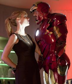 Love interest: Gwyneth Paltrow and Robert Downey Jr.