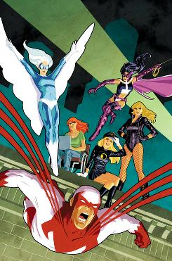 Cliff Chiang's variant cover image to 'Birds of Prey' from DC Comics