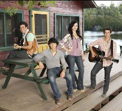 On Disney Channel: Kevin Jonas, left, Joe Jonas, Demi Lovato and Nick Jonas are back for their encore Sept. 3 in Camp Rock 2: The Final Jam, following a concert tour.