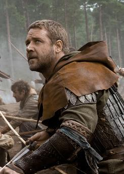Fighting corruption and heavy taxation: Russell Crowe is the latest big-screen Robin Hood. The film, opening Friday, is set in the 13th century.