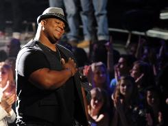 Eliminated contestant Michael Lynche performs on American Idol on Wednesday.