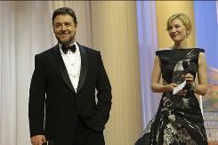 Leads Russell Crowe and Cate Blanchett turn up the glamour at the Robin Hood premiere at the Cannes Film Festival on Wednesday.