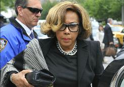 Actress Diahann Carroll arrives for the funeral of Lena Horne at Church of St. Ignatius Loyola in New York, Friday.
