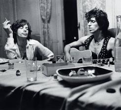 Main Street, French Riviera, 1971: Mick Jagger, left, and Keith Richards at work on the Rolling Stones' double album Exile on Main Street.