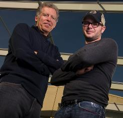 "Break time: That's Carlton Cuse, left, and Damon Lindelof's plan. ""The first thing is creatively recharging our capacities,"" Cuse says."