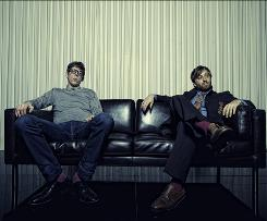 Patrick Carney, left, and Dan Auerbach specialize in blues rock, with a little soul thrown in.