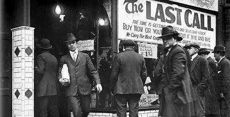 Stocking up: On Jan. 16, 1920, when the 18th Amendment took effect, this Detroit liquor store put out a last call. Within hours, a vast and unstoppable illegal trade was born, giving rise to multistate criminal syndicates.