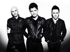 Mark Sheehan,  left, Danny  O'Donoghue and Glen  Power of The Script are breaking more than even.