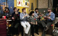 Dr. Dog: Zach Miller, left, Scott McMicken, Eric Slick, Frank McElroy and Toby Leaman