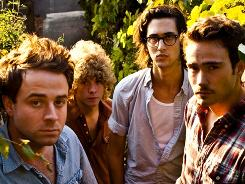 Dawes: Taylor Goldsmith, left, Griffin Goldsmith, Wylie Gelber and Alex Casnoff will be at the Lollapalooza and Sasquatch festivals.