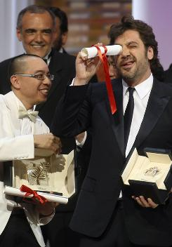Apichatpong Weerasethakul directed the Thai movie Uncle Boonmee, which won Cannes' top award. For best actor, Biutiful's Javier Bardem was a co-winner (along with Our Life's Elio Germano). Juliette Binoche, below, took the best-actress prize for love story Certified Copy.