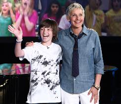Ellen DeGeneres  is starting a music label called eleveneleven. Her first act will be 12-year-old Greyson Chance, who recently became a sensation on YouTube with his piano version of Lady Gaga's Paparazzi.