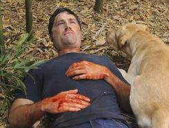 Lost no more: Jack (Matthew Fox) and Vincent (Madison the dog) in the finale.