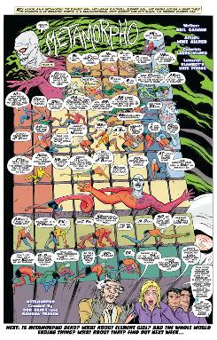 Page 9 from 'Metamorpho' by Gaiman/Allred that ran in 2009 'Wednesday Comics' series from DC Comics.
