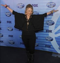 Crystal Bowersox poses backstage after the American Idol  finale on Wednesday.