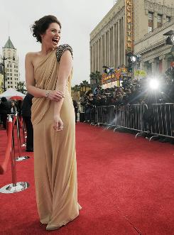 """To play Princess Tamina, Gemma Arterton, shown at the Prince of Persia premiere, got toned and did her own stunts. """"I ended up with cuts and scrapes all over me."""""""