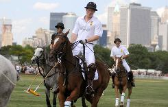 Prince Harry played in the Veuve Clicquot Manhattan Polo Classic last summer, too.