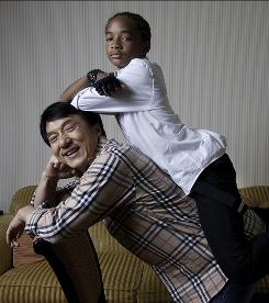Jackie Chan gave co-star Jaden Smith lessons in the martial arts for the remake of The Karate Kid, out June 11.