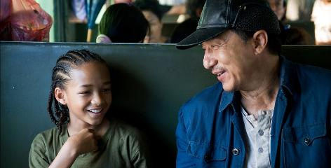 """""""I knew all of his stuff,"""" Jaden Smith says of Karate Kid co-star Jackie Chan. """"He and my dad are like my two biggest influences."""""""