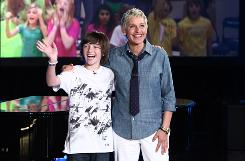 Ellen Degeneres announced on her show that she is starting a label called eleveneleven, and her first act will be Greyson Chance, 12, who became a sensation on YouTube with his piano version of Lady Gaga's Paparazzi.