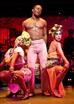 Up for best-musical Tony: Catherine Foster, left, Sahr Ngaujah and Nicole de Weever in Fela!, whose songs were previously recorded.