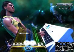 Tickle these ivories: Rock Band 3 adds a new keyboard controller to the music game experience.