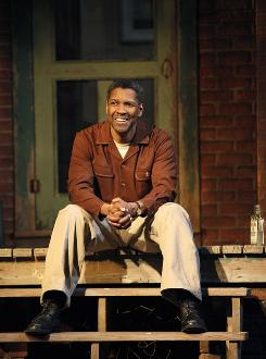 Denzel Washington appears in Fences at the Cort Theatre through July 11.