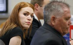 Shannon Price, the ex-wife of actor Gary Coleman, listens during a Monday hearing regarding Gary Coleman's estate in Provo, Utah.A Utah judge ordered that the actor's remains be cremated no sooner than Wednesday afternoon, so Coleman's former girlfriend and manager, Anna Gray, will have enough time to travel from Oregon to Utah to see his body.
