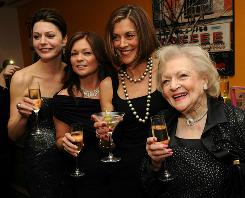 Cleveland girls in New York: Jane Leeves, left, Valerie Bertinelli, Wendie Malick and Betty White at Monday's premiere of their sitcom.
