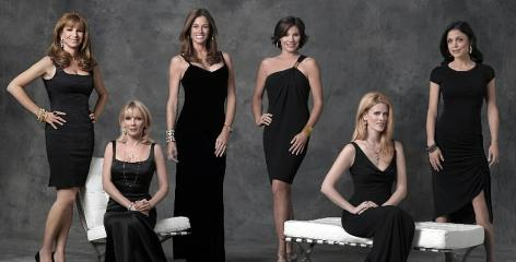 Jill Zarin, left, Ramona Singer, Kelly Killoren, LuAnn Lesseps, Alex McCord and Bethenny Frankel of Real Housewives of New York City.