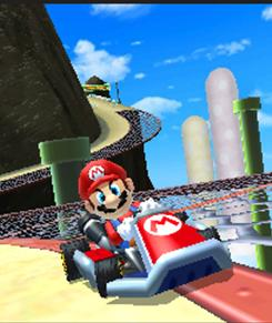 Mario Kart puts the game icon aboard Nintendo's 3DS system, which is expected by March.