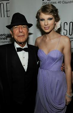 Generation gap: Leonard Cohen and Taylor Swift were among the 2010 inductees. 