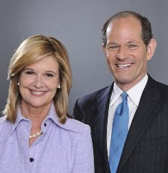 Former New York politician Eliot Spitzer, who resigned as governor following a prostitution scandal, is hoping for a second career as a talking head. He'll helm a new CNN debate show with conservative columnist Kathleen Parker.