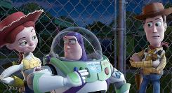 Jessie, Buzz and Woody plot a great escape in Toy Story 3.