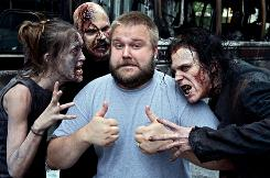 Photo of 'The Walking Dead' creator, Robert Kirkman, on the set of the upcoming AMC series.