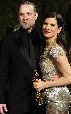 Sandra Bullock and Jesse James at the 2010 Vanity Fair Oscar party.