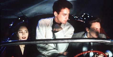 Less Than Zero: Jamie Gertz, Robert Downey, Jr., and Andrew McCarthy star in the1987 movie based on Bret Easton Ellis' debut novel. The characters  Blair, Julian and Clay  are back in the new book.