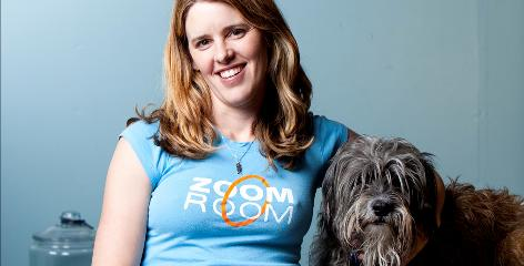 L.A.'s Jaime Van Wye, here with Mr. Doodles, has trained hundreds of dogs to do things such as ride skateboards or fetch the cellphone when it rings. Her tricks-training classes are always packed, as more and more people wants their pets to perform fun things.