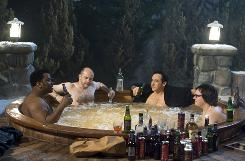 Hot Tub: Craig Robinson, Rob Corddroy John Cusack and Clark Duke take a dip and in doing so, travel back in time.