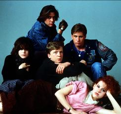 The Breakfast Club cast: Ally Sheedy, left, Judd Nelson, Anthony Michael Hall, Molly Ringwald and Emilio Estevez.