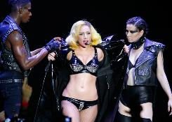 Lady Gaga performs at the Boardwalk Hall Arena on July 4 in Atlantic City.