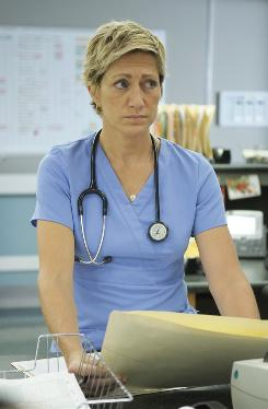 A healthy choice: Edie Falco is nominated for her title role in the new Showtime series Nurse Jackie.