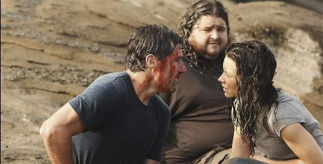 Last chance: Matthew Fox, left, who starred with Jorge Garcia and Evangeline Lilly, got a nomination for Lost in the show's final season.